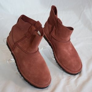 Red Clay UGG Classic Unlined Mini Slouch Booties